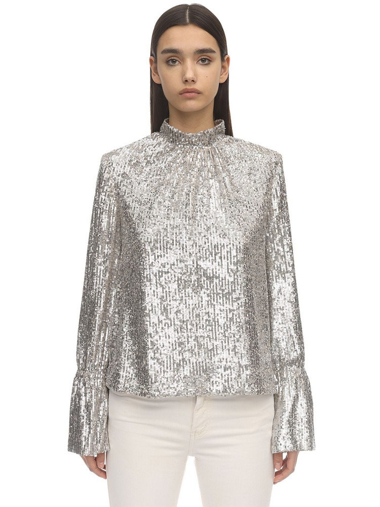 ZADIG & VOLTAIRE Sequined Top in silver