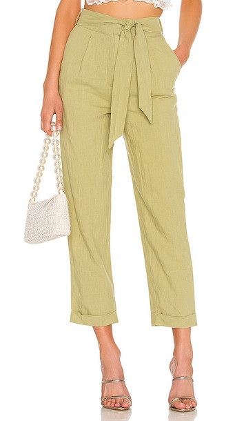 MAJORELLE Whitley Pants in Green
