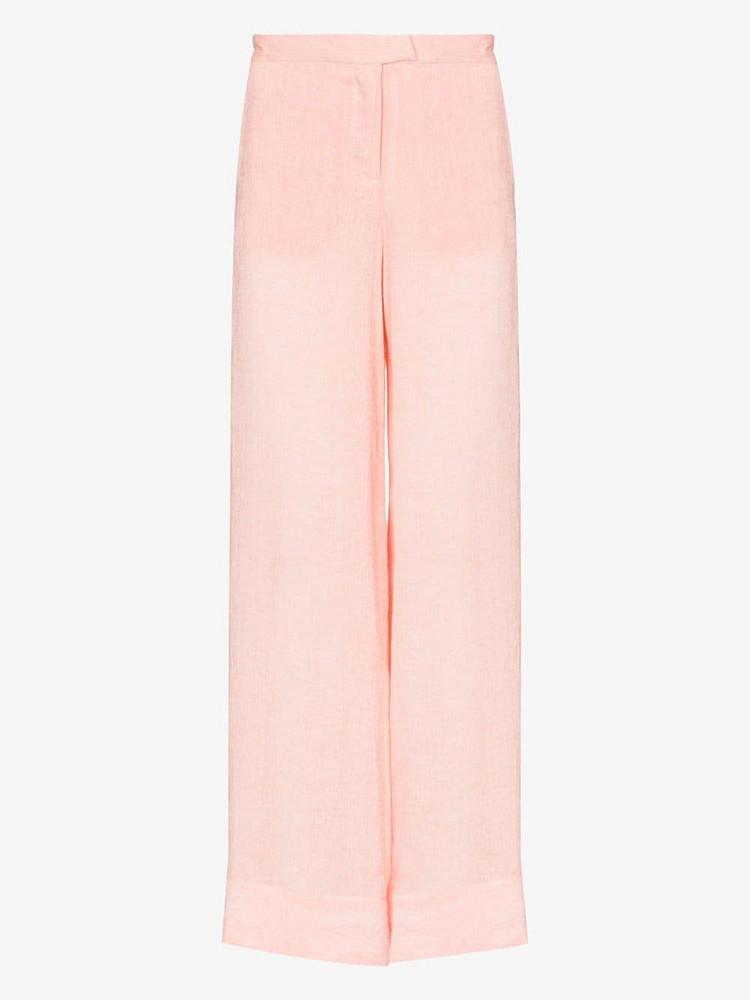 Lisa Marie Fernandez linen wide leg trousers in pink