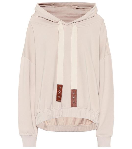 Dorothee Schumacher Cropped cotton hoodie in white