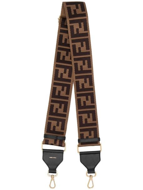 Fendi FF motif bag strap - Brown
