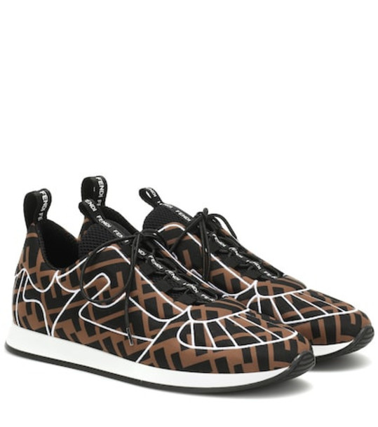 Fendi Logo sneakers in brown