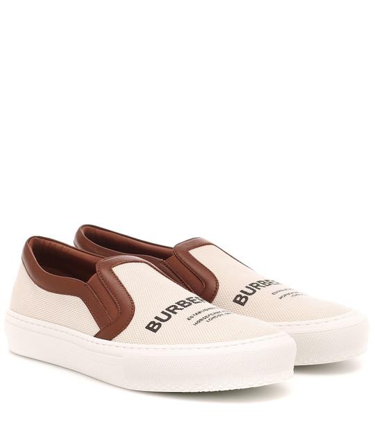 Burberry Delaware slip-on sneakers in beige