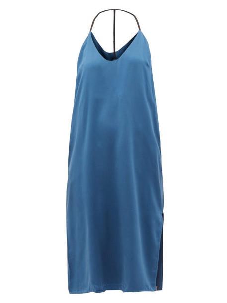 Lunya - Racerback Silk Nightdress - Womens - Blue