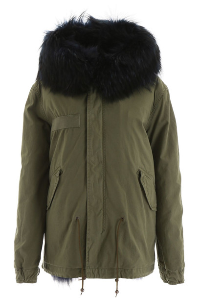 Mr & Mrs Italy Mini Parka With Fur in blue / green
