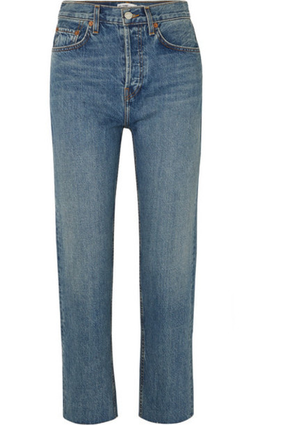 RE/DONE - Originals Stovepipe High-rise Straight-leg Jeans - Mid denim