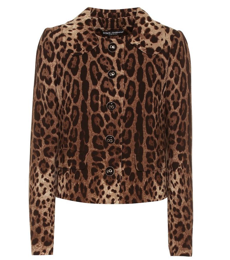 Dolce & Gabbana Leopard-print wool jacket
