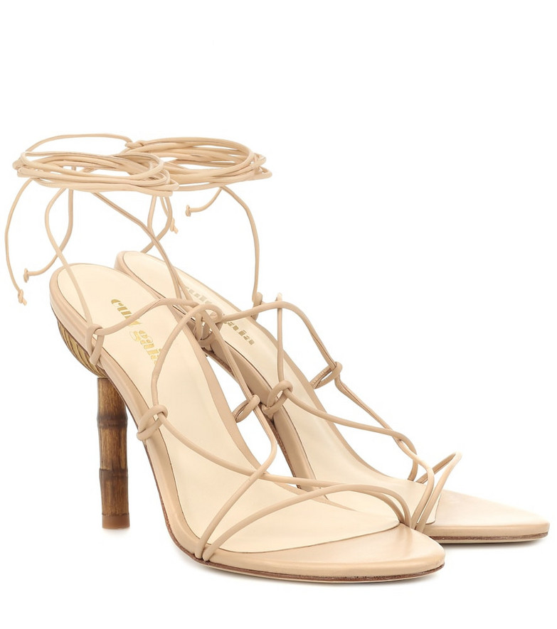 Cult Gaia Soleil leather sandals in beige