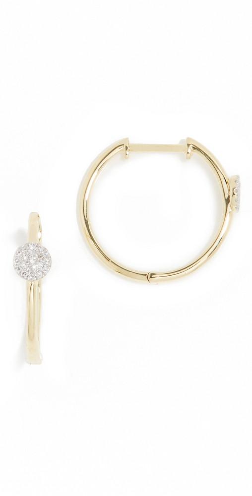 Meira T Hoop Earrings in gold