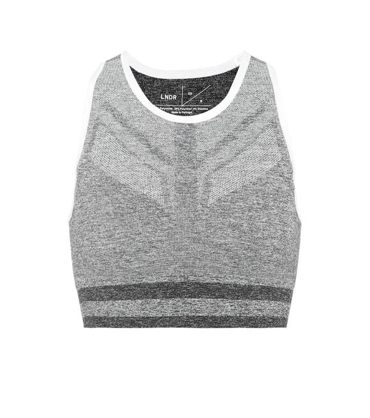 Lndr Shape sports bra in grey