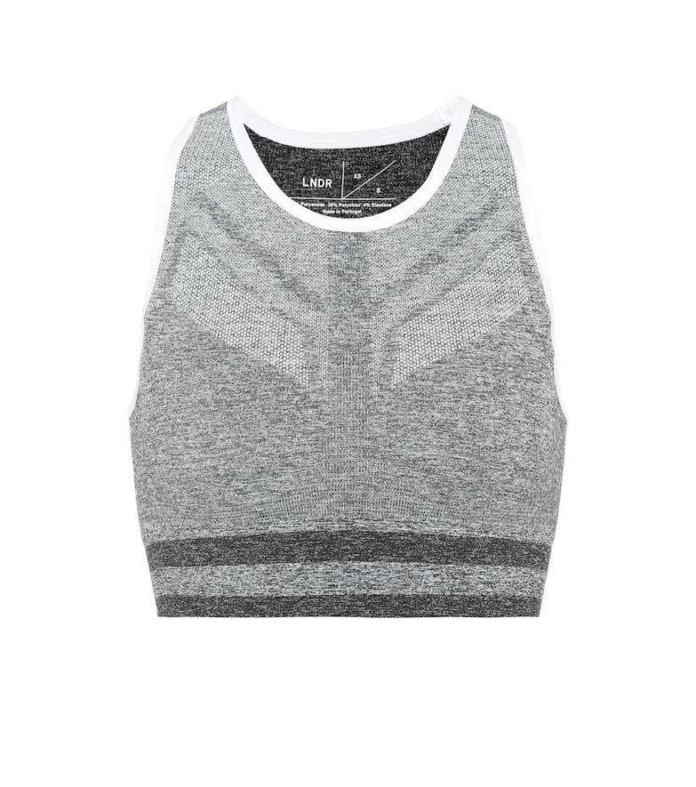 Lndr Shape sports bra in grey