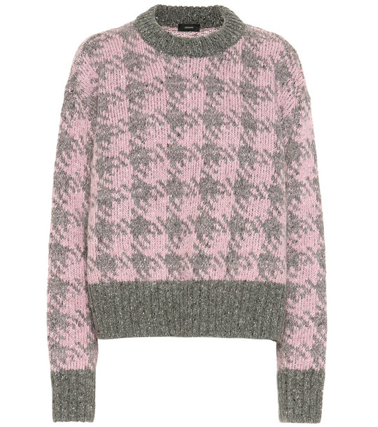 Joseph Wool and mohair-blend sweater in pink