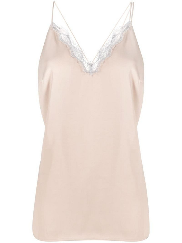 Aeron strappy sleeveless blouse in neutrals