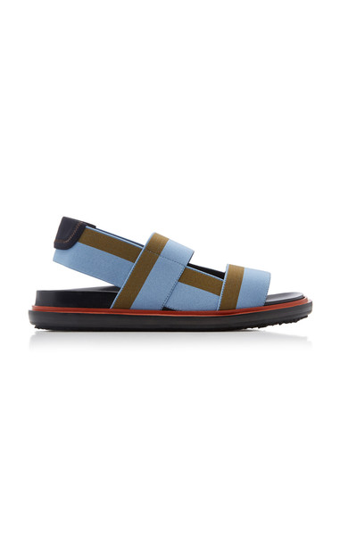 Marni Fussbett Color-Block Slingback Sandals in blue
