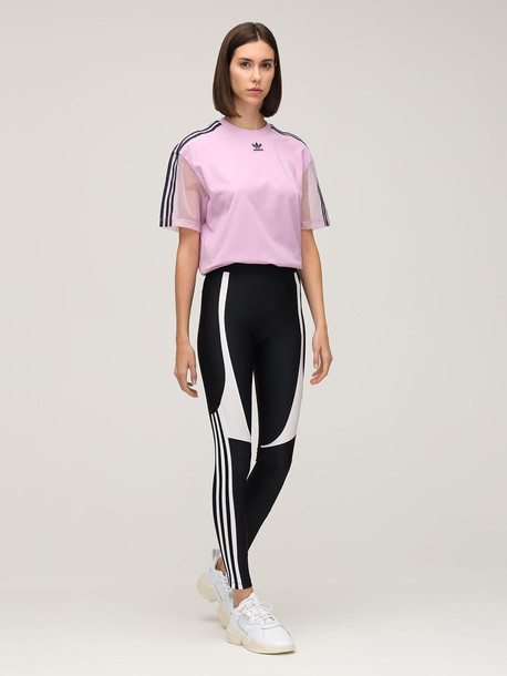 ADIDAS ORIGINALS 3 Stripes Tight Leggings in black
