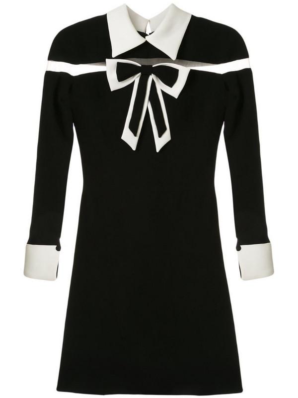 Saiid Kobeisy bow-detail flared dress in black