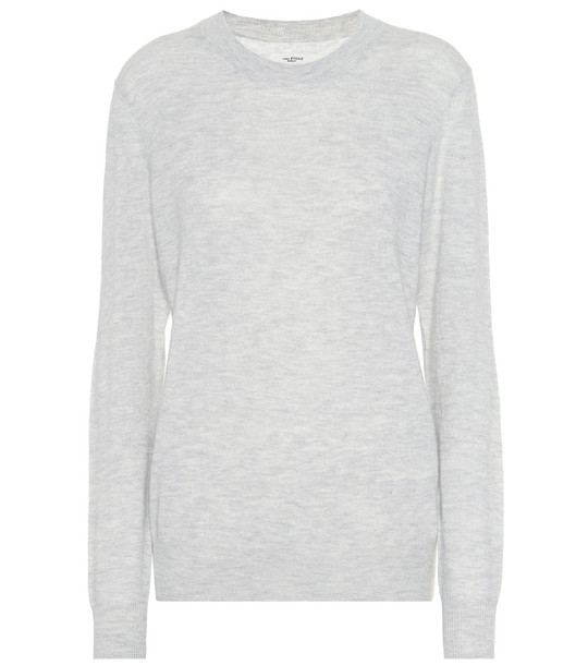 Isabel Marant, Étoile Blizzy alpaca and wool-blend sweater in grey