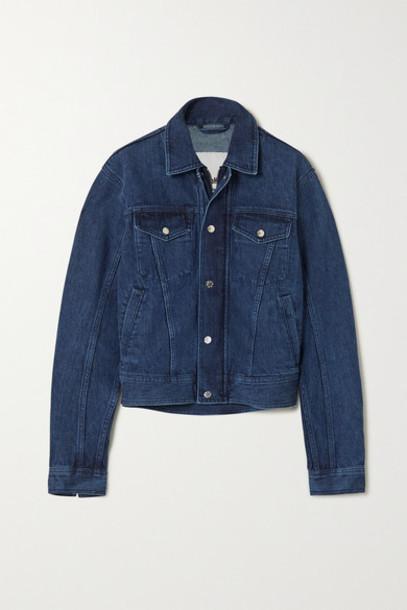 GmbH - Net Sustain Organic Cotton-blend Denim Jacket - Dark denim
