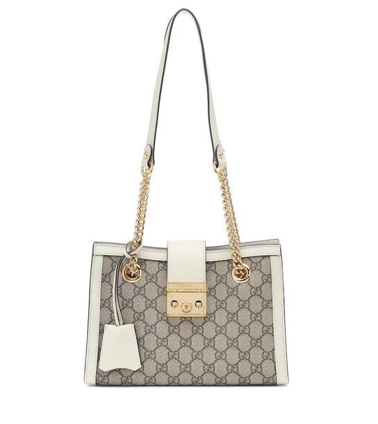 Gucci Padlock Small GG Supreme shoulder bag in beige