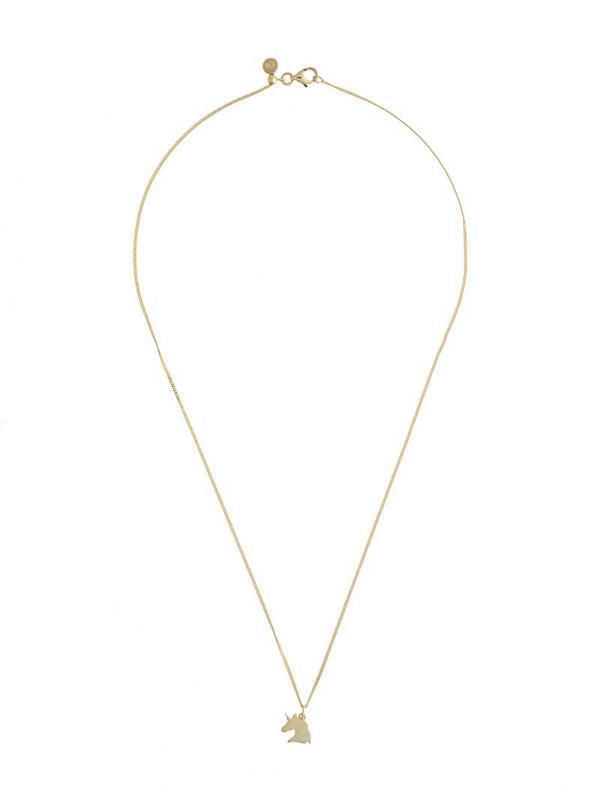 Karen Walker Unicorn chain necklace in gold