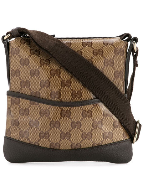 Gucci Pre-Owned GG pattern shoulder bag in brown