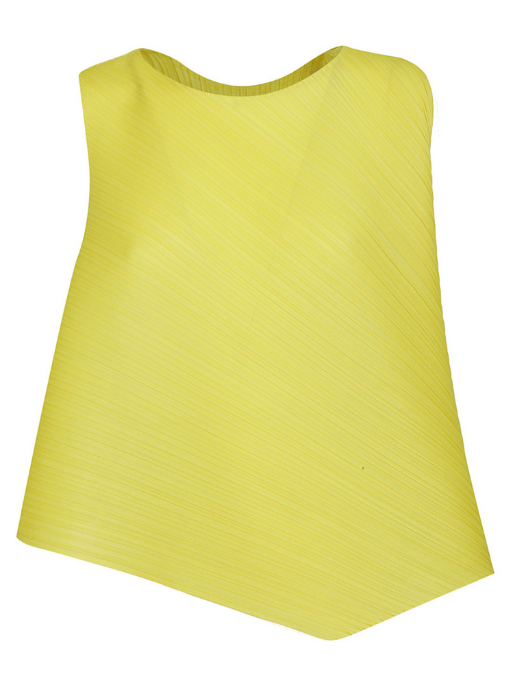 Issey Miyake Flared Asymmetric Top in yellow