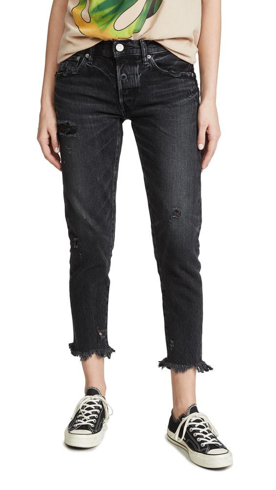 MOUSSY VINTAGE MV Kelley Tapered Jeans in black