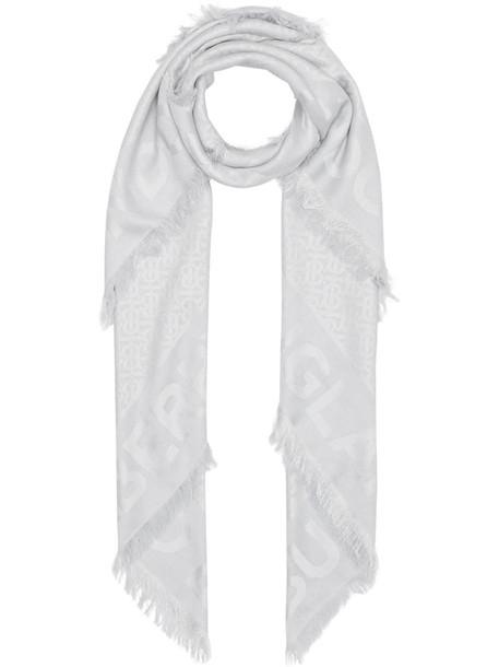 Burberry tonal monogram scarf in grey
