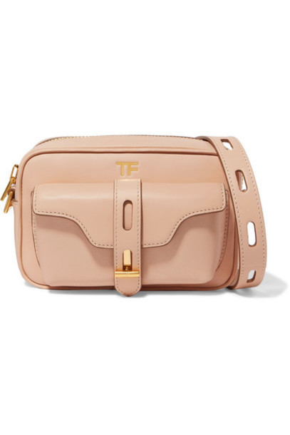 TOM FORD - Hollywood Leather Shoulder Bag - Beige