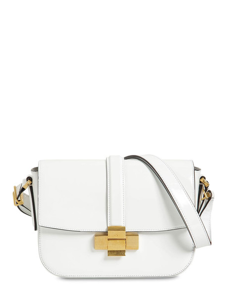 N°21 Lolita Patent Leather Shoulder Bag in white