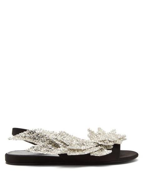 Balenciaga - Slash Flat Sandals - Womens - Black
