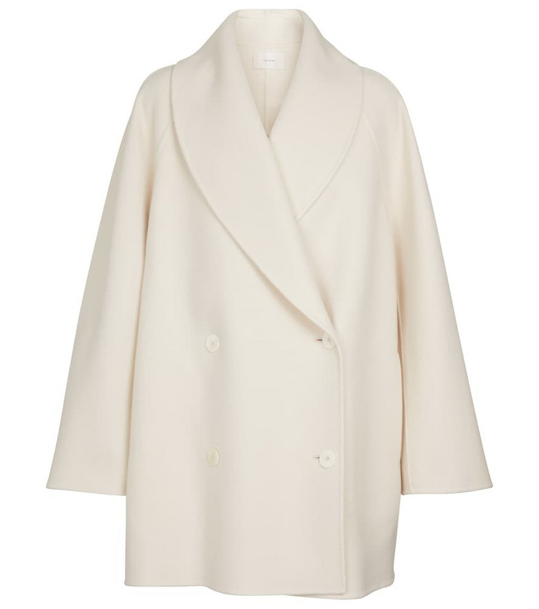 The Row Polli wool-blend coat in white