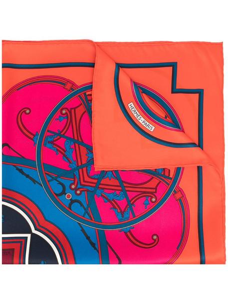 Hermès pre-owned geometric-print scarf in red