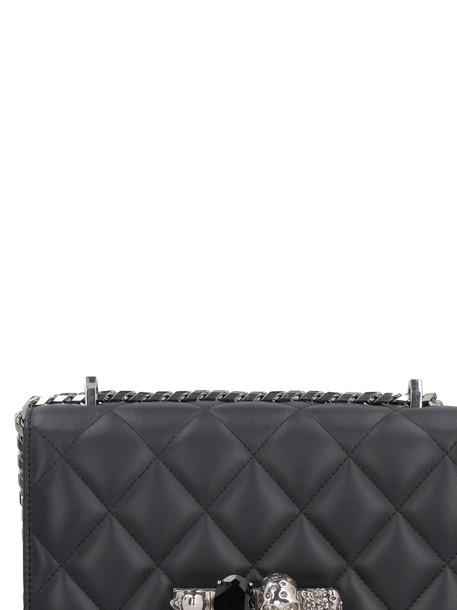 Alexander McQueen Embellished Leather Bag in black
