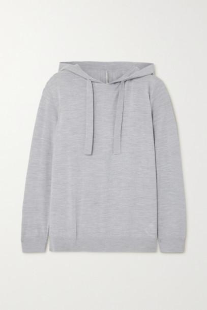 Ninety Percent - Net Sustain Organic Merino Wool-blend Hoodie - Gray