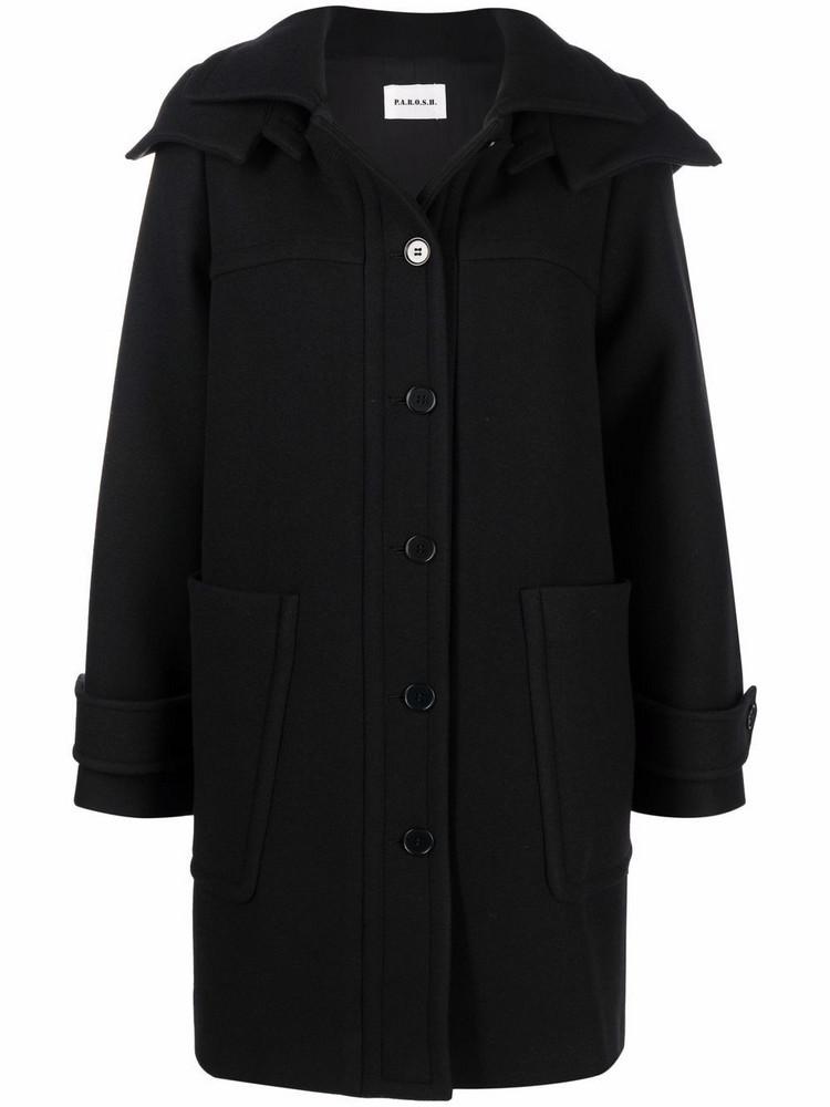 P.A.R.O.S.H. P.A.R.O.S.H. single-breasted fitted coat - Black