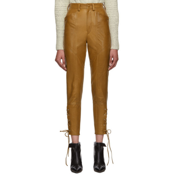 Isabel Marant Brown Leather Cadix Pants