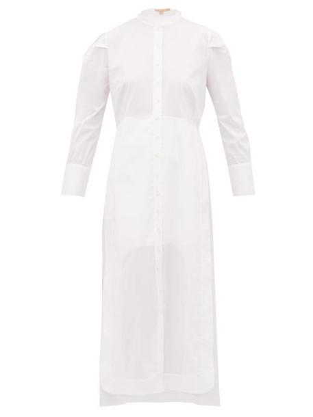 Brock Collection - Penelope Cotton Poplin Midi Shirt Dress - Womens - White