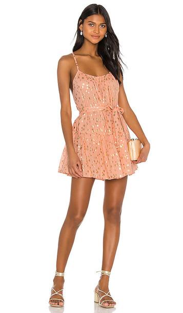 Sundress Lotus Mini Dress in Peach