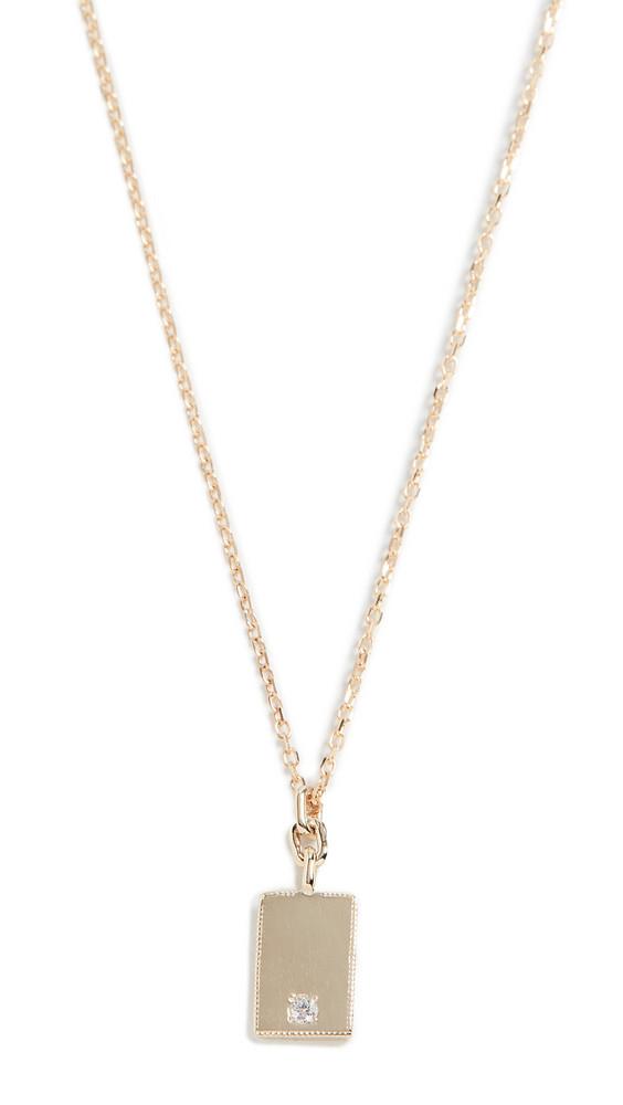 Jennie Kwon Designs 14k Rectangle Diamond Mirror Pendant Necklace in gold / yellow