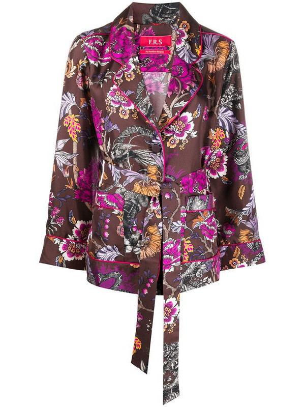 F.R.S For Restless Sleepers floral kimono shirt in brown