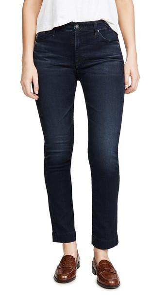 AG The Mari High-Rise Slim Straight Jeans