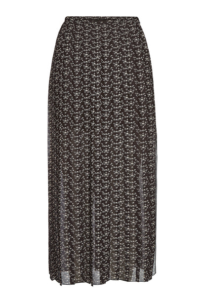 See by Chloé Printed Pleated Skirt with Slits
