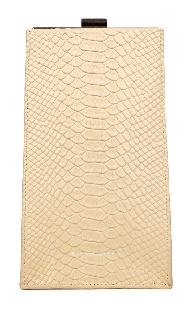 Studio Amelia Envelope Mini Snake-Effect Leather Bag in neutral
