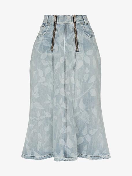 GmbH stinging nettle leaf print organic cotton midi skirt