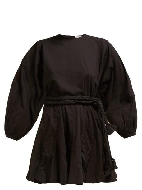 Rhode Resort - Ella Flared Cotton Poplin Dress - Womens - Black