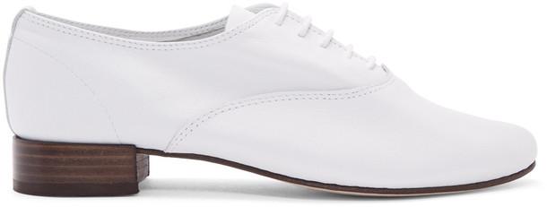 Repetto White Zizi Oxfords