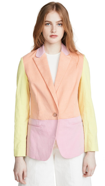 Tanya Taylor Darwin Blazer in pink / multi