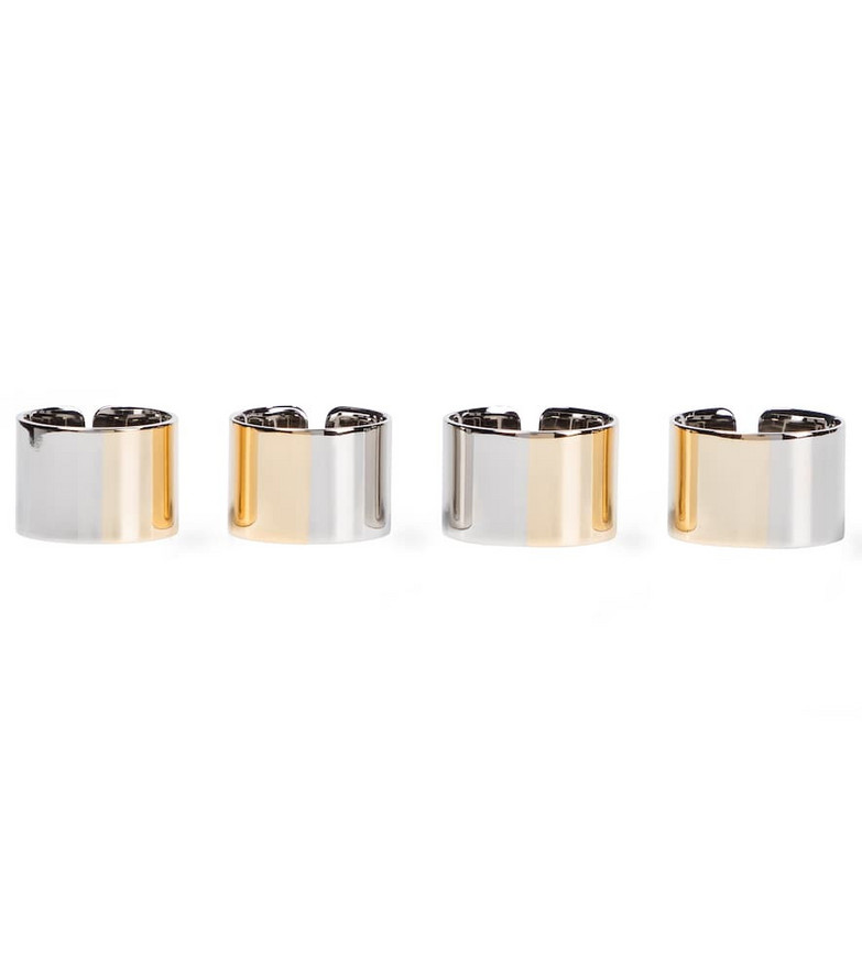 MM6 Maison Margiela Set of 4 rings in metallic
