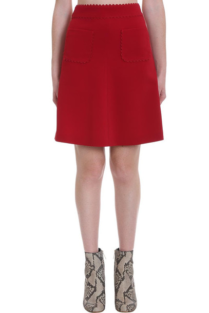 RED Valentino Skirt In Red Cotton